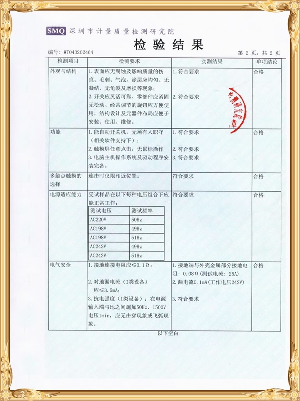 Quality inspection report (5)